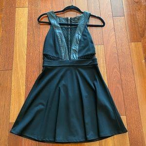 Fora Little Black dress with sheer detail LBD - M
